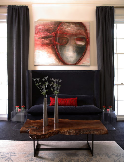 showhouse contemporary living room