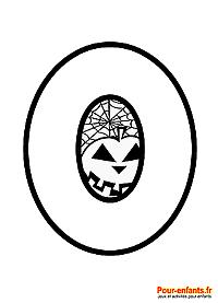 Dessin du chiffre 0 à imprimer en grand pour Halloween