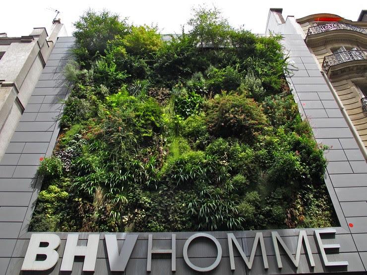 BHV vertical garden, Paris