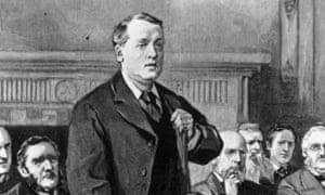Lord Rosebery μιλώντας στο υπουργείο Εξωτερικών, C1900.