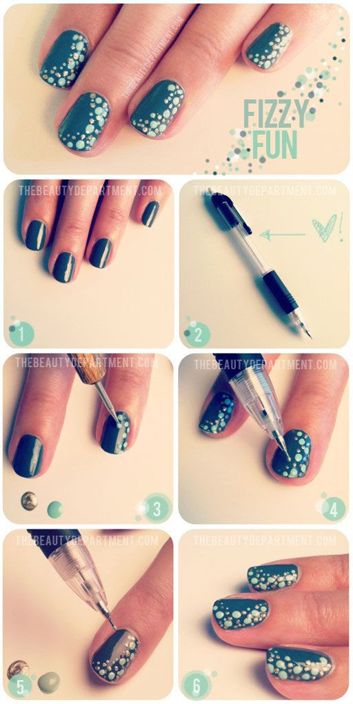 Fizzy fun nail tutorial
