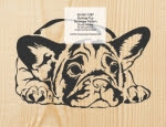Bulldog Pup Scrollsaw Woodworking Pattern - fee plans from WoodworkersWorkshop® Online Store - bulldogs,puppy,puppies,pets,animals,yard art,painting wood crafts,scrollsawing patterns,drawings,plywood,plywoodworking plans,woodworkers projects,workshop blueprints