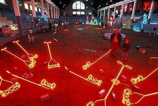 Photo: neon sculpture exhibition