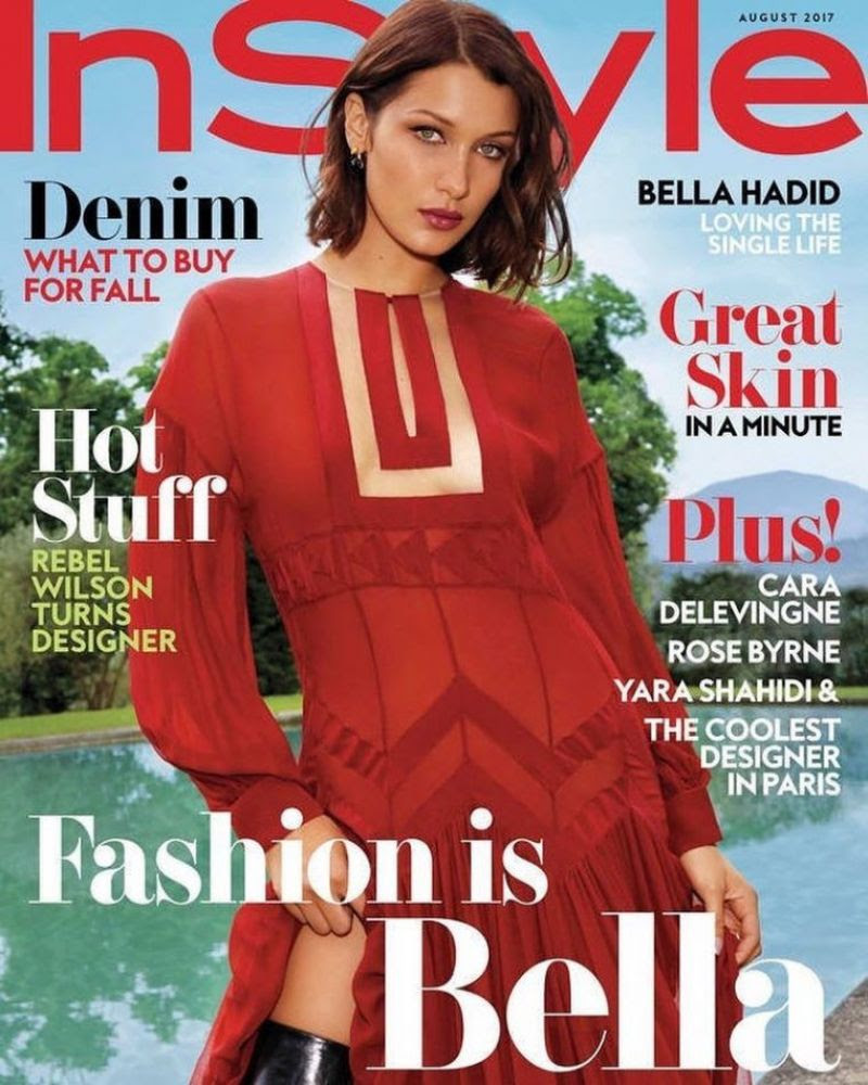 BELLA HADIID in Instyle Magazine, August 2017