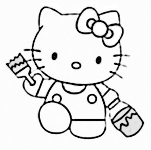 Gambar Hello Kitty Hitam Putih Clipartsco