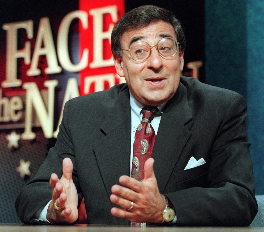 11/12/95: White House chief of staff Leon Panetta appears on CBS' 'Face the Nation' news show Sunday Nov. 12, 1995 in Washington. The topic of the show was shutting down the govenment. A meeting between Panetta and congressional Republicans seeking to break the budget impasse was canceled Saturday after the Clinton administration sought to include Democratic lawmakers in the session.