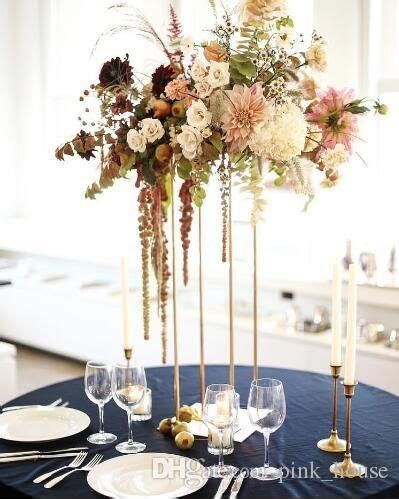 New style tall Wedding Metal Gold Flower Vase Column Stand