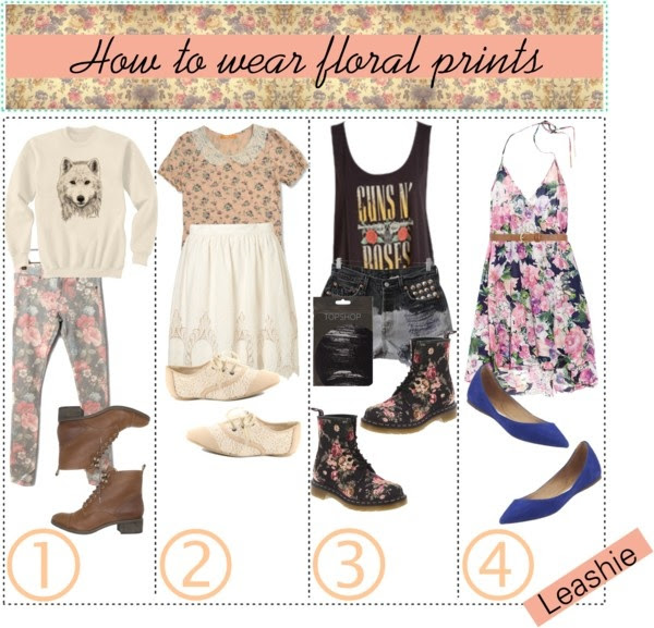 """How to wear floral prints"" by xo-life-tip-girls-xo ❤ liked on Polyvore"