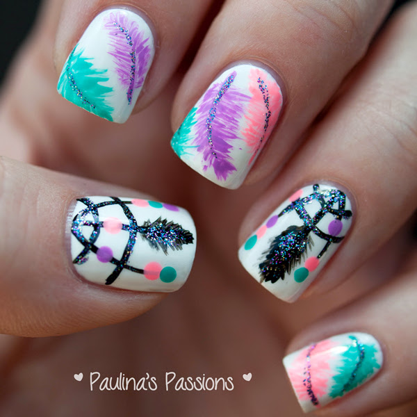 11 Dream Catcher Nail Design Step By Step Images Dream Catcher