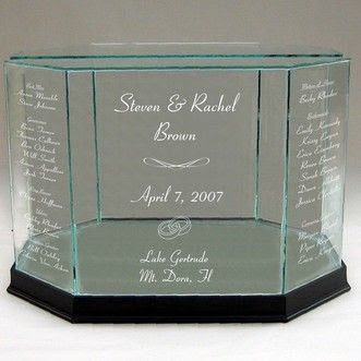 Engraved Wedding Envelope Box with all the Wedding Day info on it