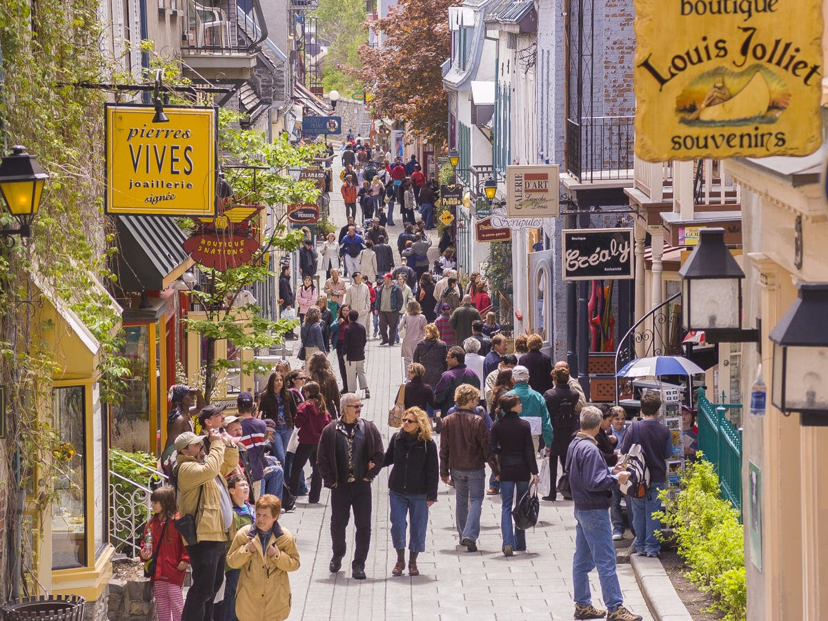 To the east, Quebec City's claim to fame is the fact that it's the only walled city with cobblestone streets north of Mexico. There's a budding creative scene in the city as well as numerous festivals and fairs during the summer, thanks to the many artsy types who have settled there.