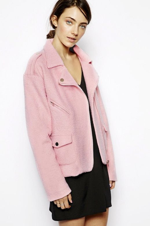LE FASHION BLOG PERFECT PINK MOTO JACKET PASTEL PINK WOOL BIKER JACKET SISTER JANE ASOS 2 photo LEFASHIONBLOGJUSTFEMALEPERFECTPINKMOTOJACKET2.jpg