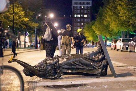 N.E.H. Funds Restoration of Statues Toppled During Protests