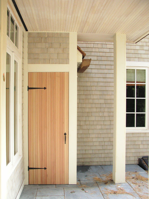 Porch shed eclectic exterior