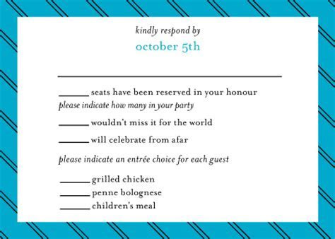 Does this RSVP card make sense to you?