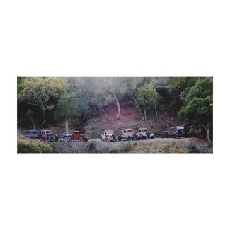 Atascadero Canyon Trucks Canvas Print