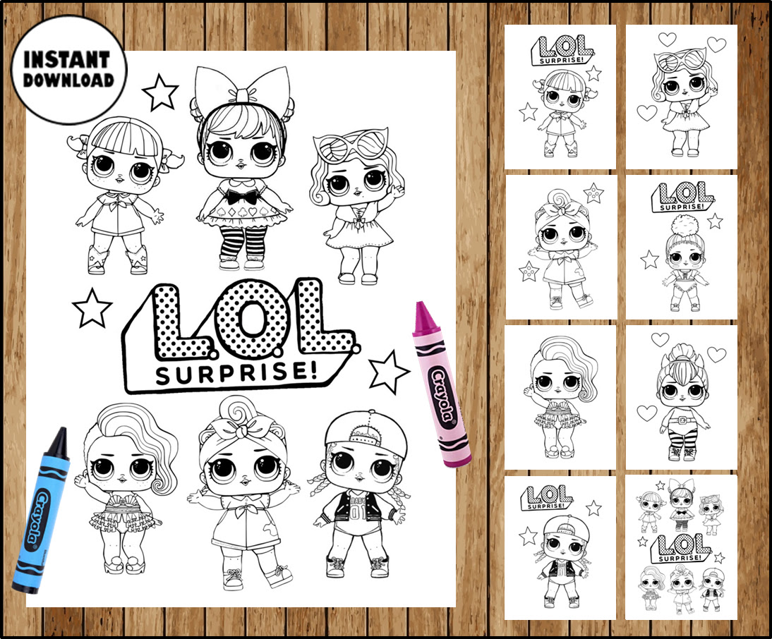Lol Surprise Logo Coloring Pages Coloring And Drawing