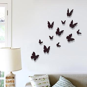 3d Schmetterlinge Set Deko Wanddekoration Wandsticker Wandtattoo 12er Set Schwarz Xxxdexg2