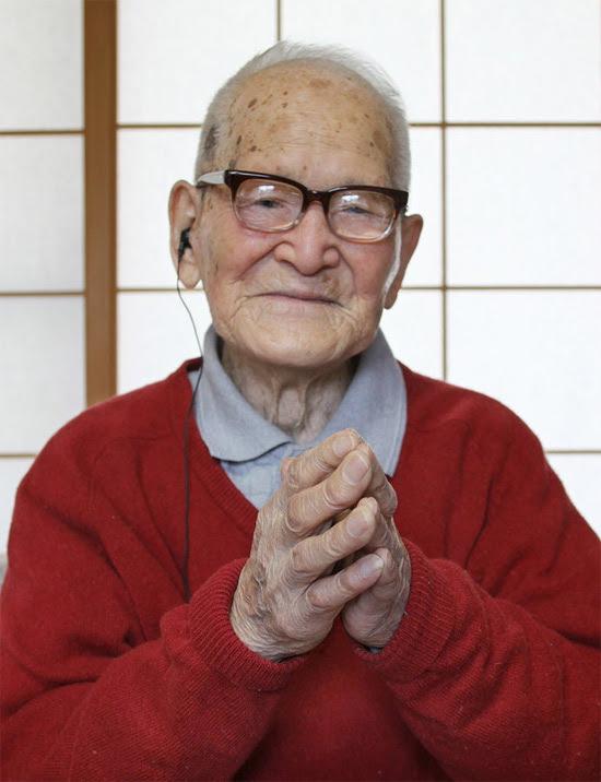 O japonês Jiroemon Kimura, de 115 anos