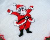 Vintage Embroidered Santa Claus Hanky - EyeSpyGoods