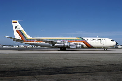 Ecuatoriana (Empresa Ecuatoriana de Aviacion) Boeing 707-321B HC-BCT (msn 19265) MIA (Bruce Drum). Image: 101418.