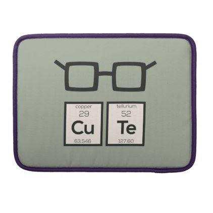 Cute chemical Element Nerd Glasses Zwp34 MacBook Pro Sleeve