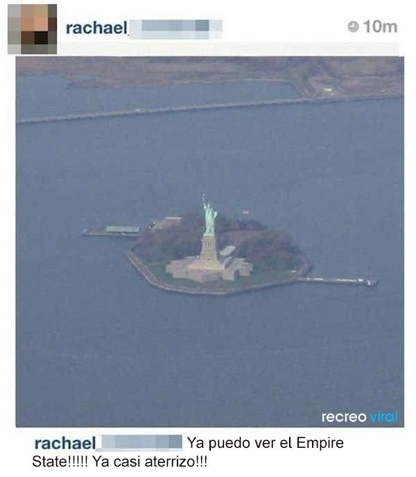 Confunde la Estatua de la Libertad con el Empire State
