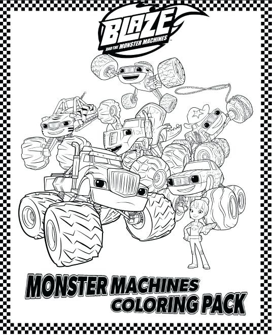 Blaze Monster Truck Coloring Pages at GetColorings.com ...