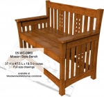Mission style Bench Woodworking Plan - fee plans from WoodworkersWorkshop® Online Store - benches,outdoor furniture,Mission style,solid wood,full size drawings,templates,patterns,drawings,plywood,plywoodworking plans,woodworkers projects,workshop blueprints