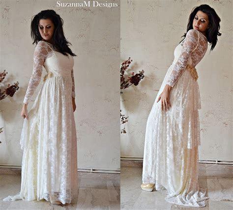 Bohemian wedding dress patterns   Luxury Brides