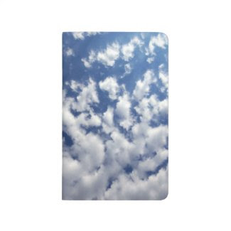 Puffy Clouds On Blue Sky Journal