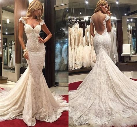 Sexy Mermaid Lace Court Train Wedding Dreess New Arrival