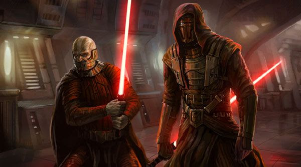 Darth Malak and his Sith Master, Darth Revan.