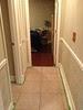 Hallway with new chair rail