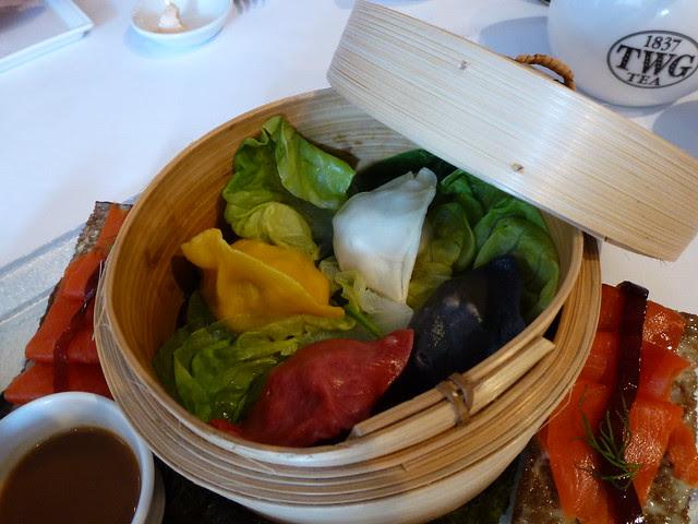 """""""Weekend in Hong Kong Tea"""" pork dumplings"""
