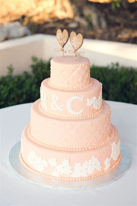 Vintage Peach and Ivory Lace Wedding