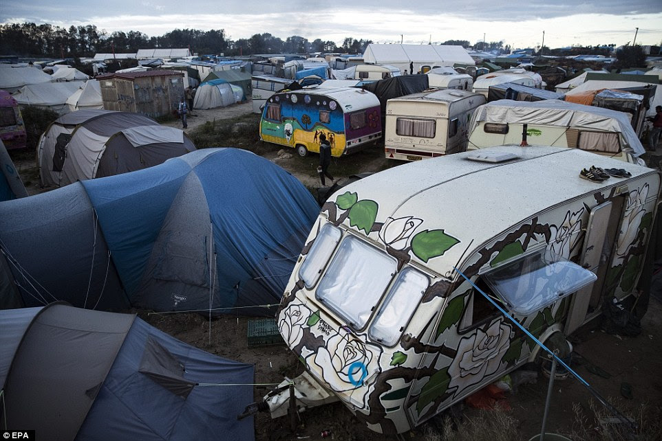The camp (pictured) will be dismantled and the process will take a week according tho the French authorities