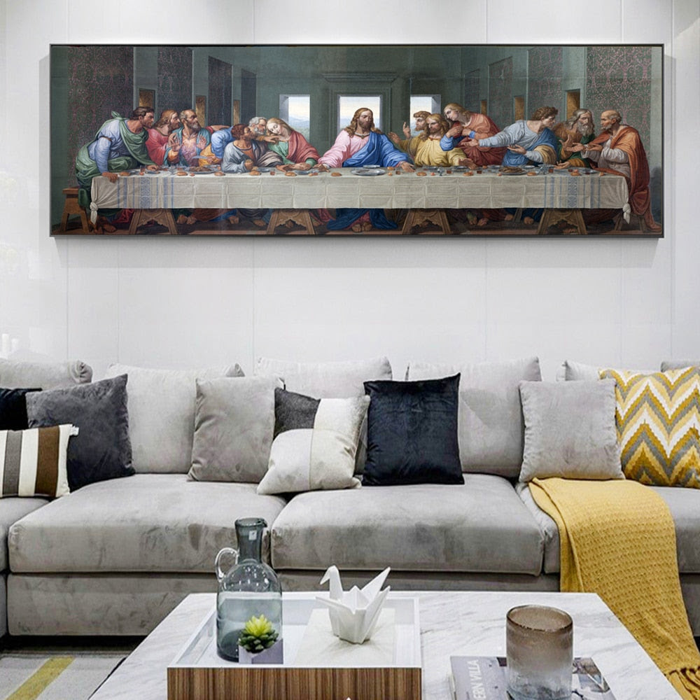 The Last Supper By Leonardo Da Vinci Print On Canvas Warblers