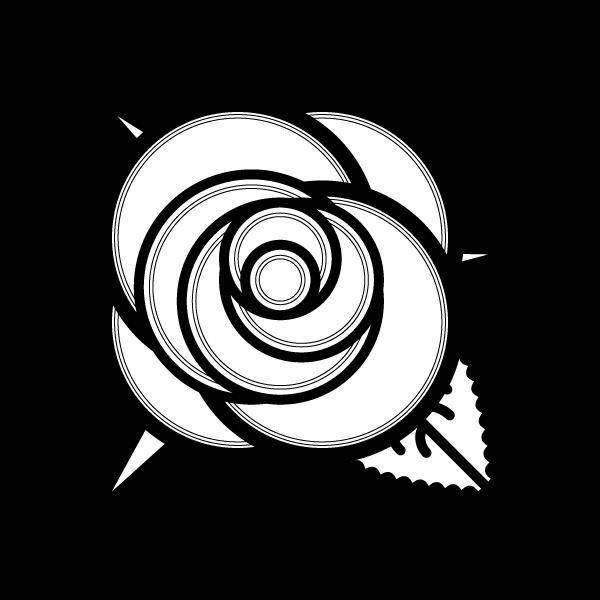 かわいいバラ2の無料イラスト商用フリー オイデ43