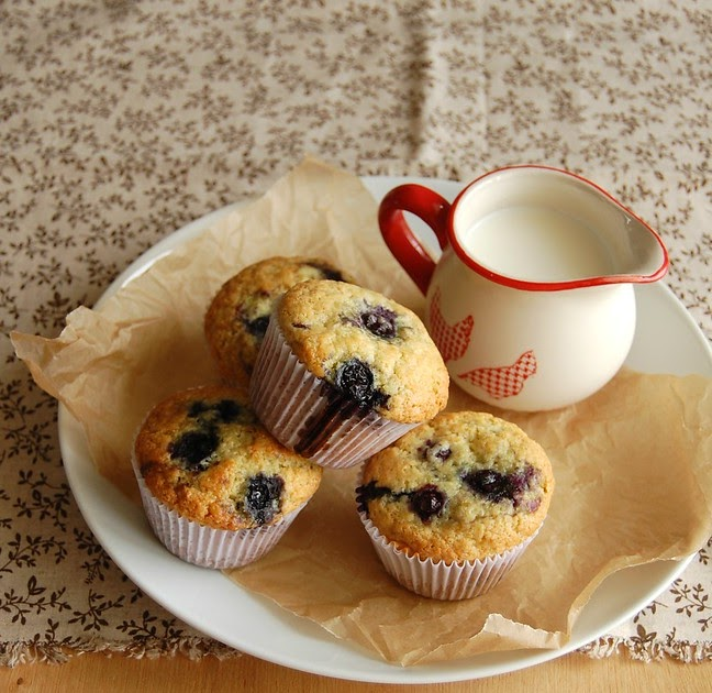 Orange, blueberry and olive oil muffins and a lactose problem