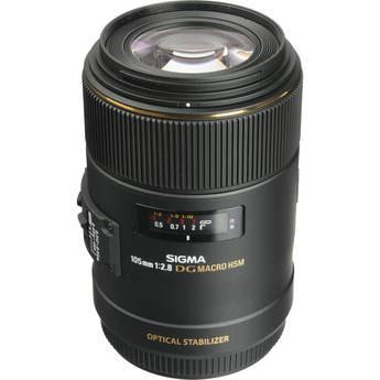 Sigma 105mm f/2.8 EX DG OS Macro Lens for Canon EOS Cameras