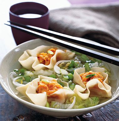 Miso Soup with Sweet Potato Dumplings recipe