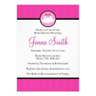 Bridal Shower Invitation | Hot Pink Wedding Bells