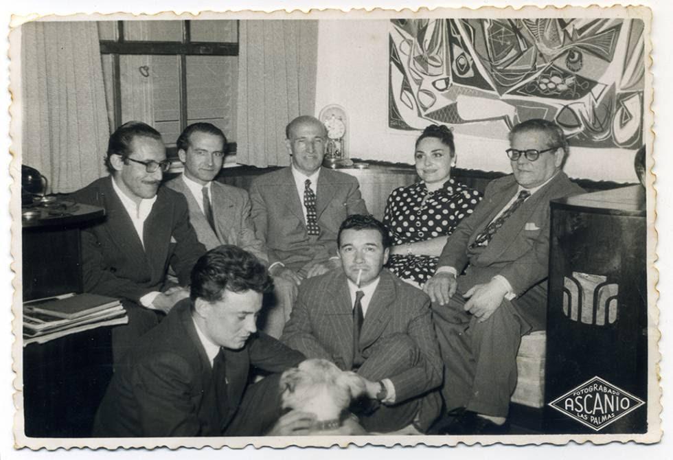 Vicente Alexandre, Agustín Millares Sall, Pedro Lezcano, Pino Ojeda, Pedro Lezcano y Manolo Padorno, entre otros.