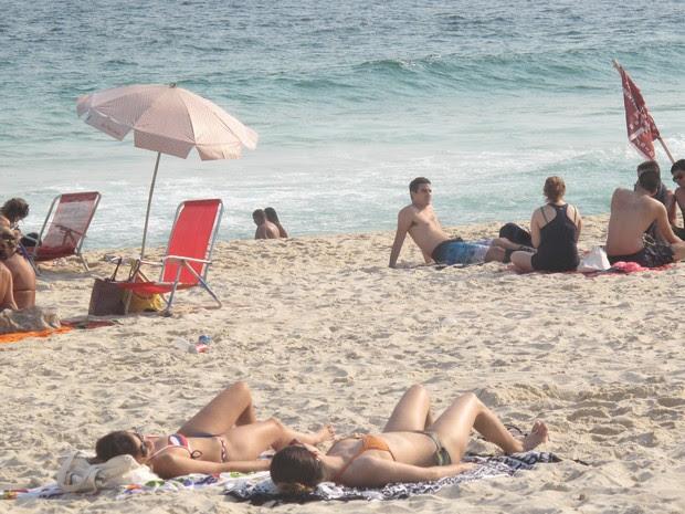 Rio teve dia mais quente de 2014 (Foto: Marcelo Elizardo/ G1)