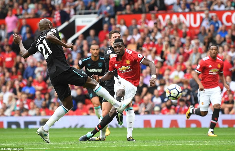 Pogba sends Manchester United top of the table on goal difference with a fourth strike in the 90th minute of the game