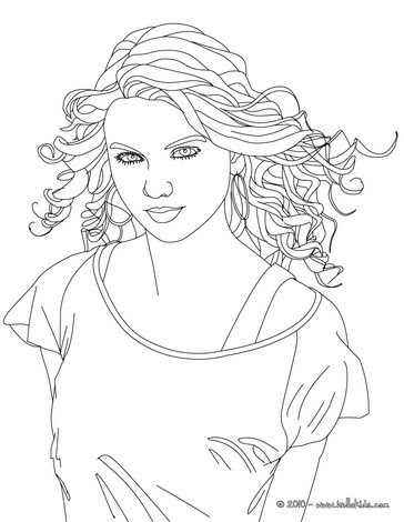 Taylor Swift Face View Coloring Pages Hellokidscom