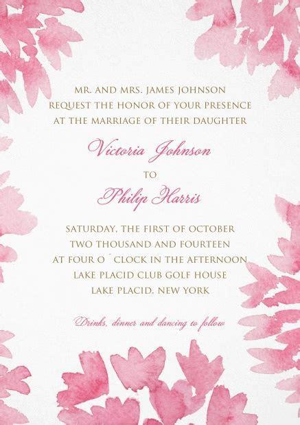 Joy of Flowers   Wedding invitation cards