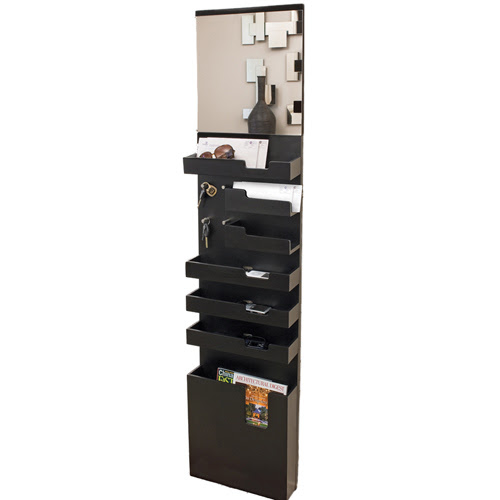 Entryway Mail and Key Wall Organizer - Black in Entryway Storage