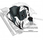 Olde English Bulldog Intarsia or Yard Art Woodworking Pattern - fee plans from WoodworkersWorkshop® Online Store - Olde English Bulldog,dogs,pets,animals,yard art,painting wood crafts,scrollsawing patterns,drawings,plywood,plywoodworking plans,woodworkers projects,workshop blueprints